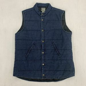 Orton Brothers Puffer Lined Jean Jacket Vest L